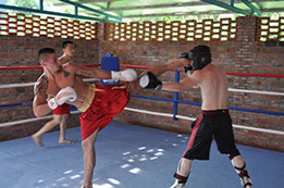 Two Students Sparing Sanda